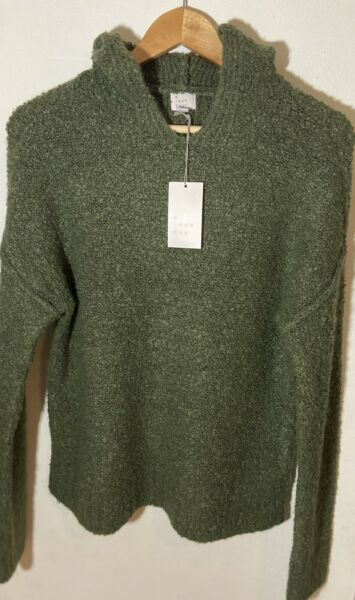 A New Day Olive Green Sweater Hoodie Women Sweater XS $13.00