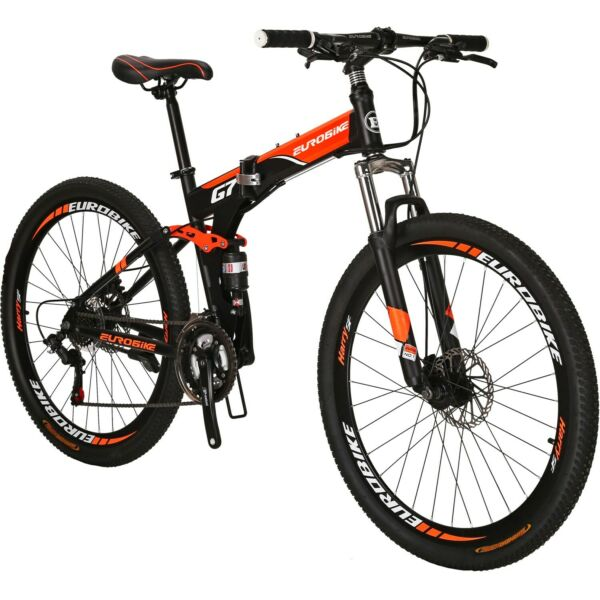 27.5quot; Folding Mountain Bike 21 Speed Full Suspension Foldable frame Bicycle