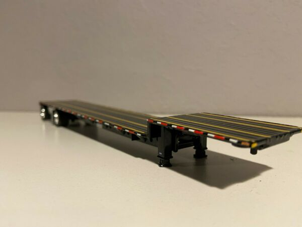 ALL BLACK DCP 1 64 TRANSCRAFT STEPDECK SPREAD AXLE 2 ROPE BOXES