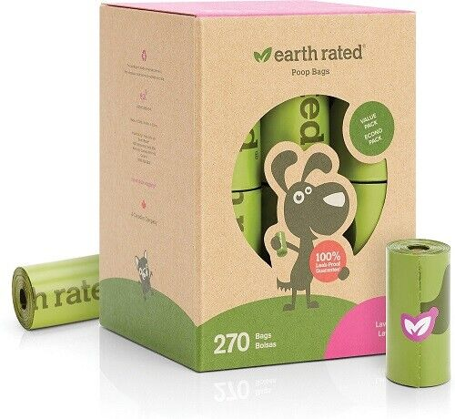Earth Rated Lavender Scented Poop Bags 270 Count Value Pack Extra Strong $13.00