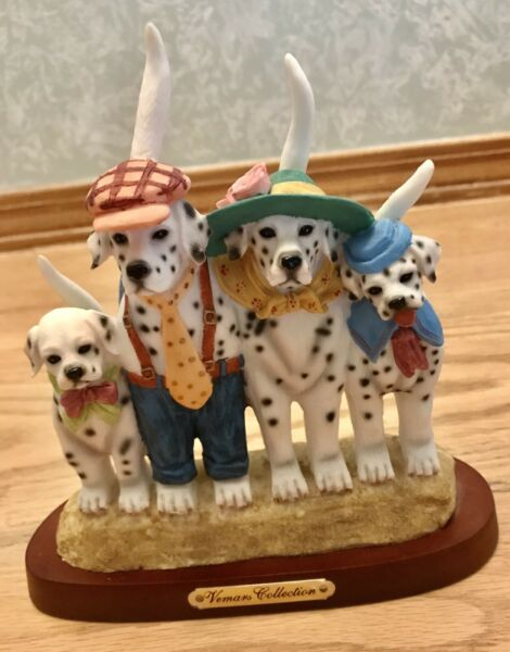 VEMARS COLLECTION CERAMIC DOGS FIGURINE $55.00