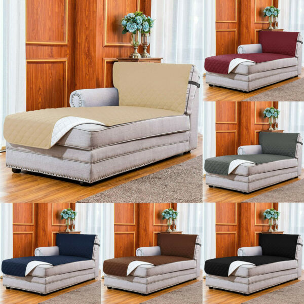 Subrtex Sofa Cover Chaise Reversible Furniture Protector Slipcover Couch Pet $24.99