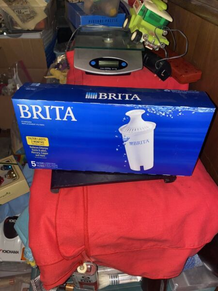 5 Brita Pitcher Replacement Water Filters Model OB03 5 Filters Pk Total 1 Pk