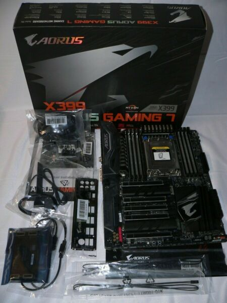 Gigabyte X399 Aorus Gaming 7 Socket TR4 DDR4 M.2 WiFi BT Motherboard Latest Bios