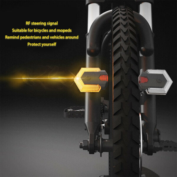 4*Bike Light Turn Signals Front Rear Smart Remote Wireless Cycling LED Taillight $52.99