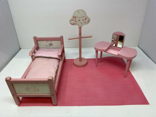 PINK GINNY DOLL FURNITURE FOR 8 1 2quot; 10quot; DOLLS $90.00