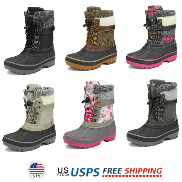 Kids Toddlers Boys Girls Winter Snow Boots Waterproof Outdoor Boots