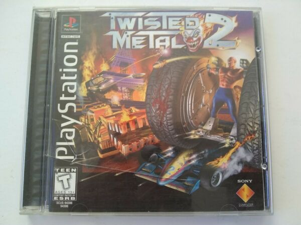 Twisted Metal 2 Sony PlayStation 1 PS1 1997 Complete Tested Video Game