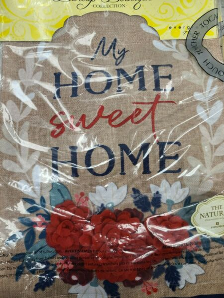Evergreen Burlap Boutique Patriotic Floral Home Sweet Home Garden Flag