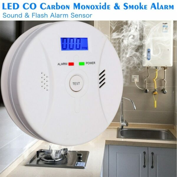 Shackcom Combination Smoke and Carbon Monoxide Detector Alarm Battery Operated $18.99