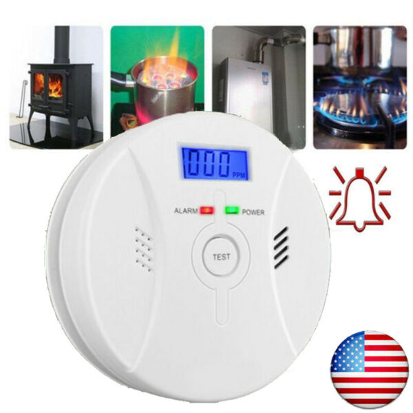 Carbon Monoxide CO amp; Smoke Fire Photoelectric Combination Detector Alarm 2in1 $18.99