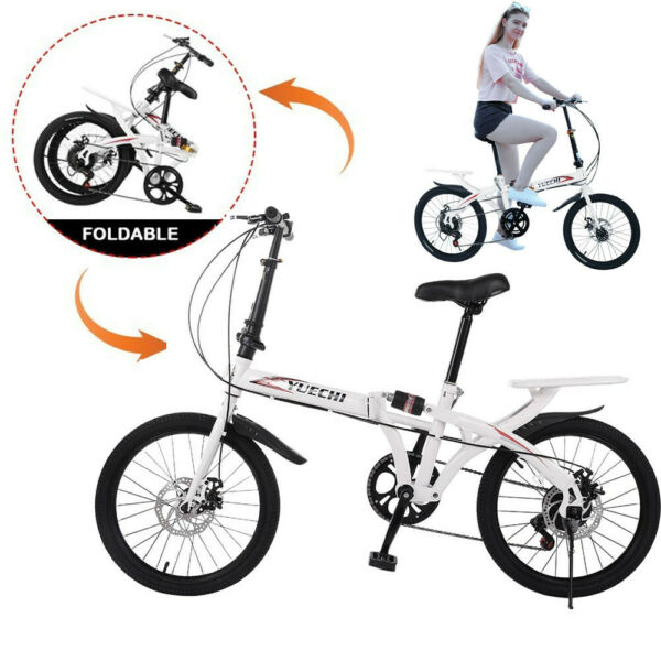 Kid Adult 20quot; 7 Speed Lightweght Folding Bike Commuter Bikes Bicycle For Student $168.29