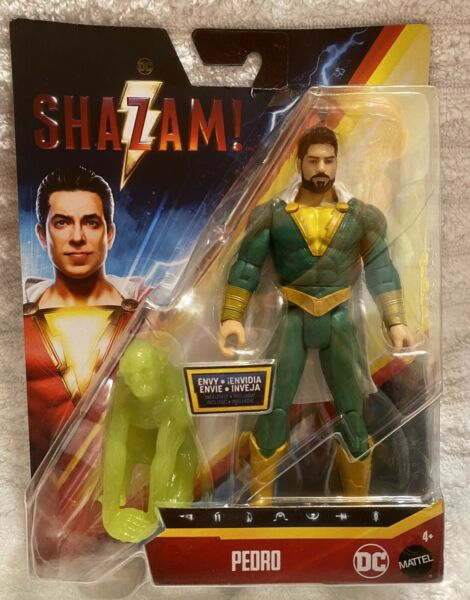 DC SHAZAM MOVIE PEDRO 6quot; ACTION FIGURE with ENVY MATTEL WARNER BROS NIP