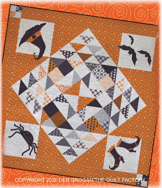 Moda SPELLBOUND Quilt Kit MIDNIGHT MAGIC Fabric Binding Pattern HALLOWEEN