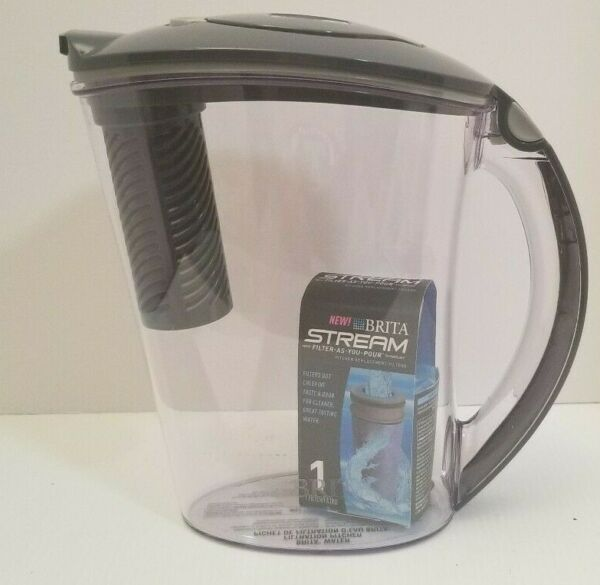 Brita Stream Water Filtration Rapid Filter as You Pour Pitcher 10 Cup