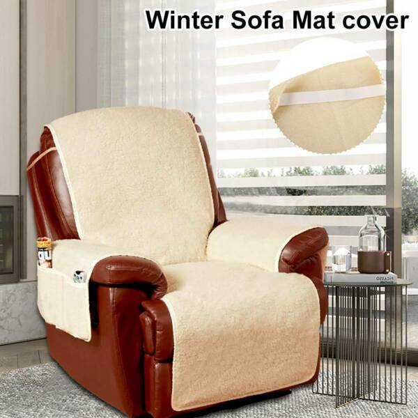 Lazy Fleece Sofa Cover Mat Quilted Couch Protector Slipcovers Recliner Covers $32.99