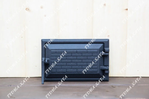 Cast Iron Furnace Fire Door Clay Bread Oven Doors Pizza Stove Fireplace Grill $74.25