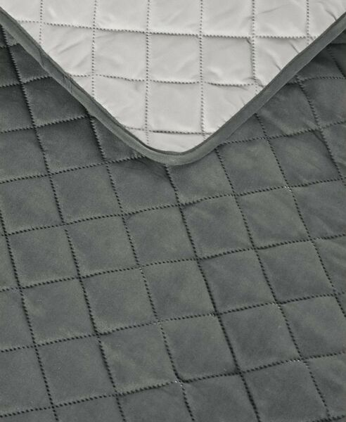 Reversible Quilted Furniture Cover Charcoal Light Gray Loveseat Slipcover $27.87