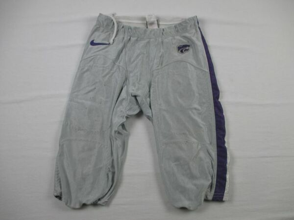 Kansas State Wildcats Nike Football Pants Men#x27;s Gray Nylon Used Multiple Sizes