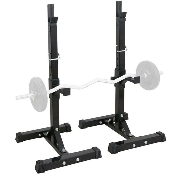 Squat Rack Adjustable Bench Press Weight Exercise Barbell Stand Gym Fitness $68.88