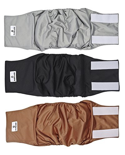 Pet Parents Premium Washable Dog Belly Bands 3pack of Male Dog Diapers Dog Male $22.96