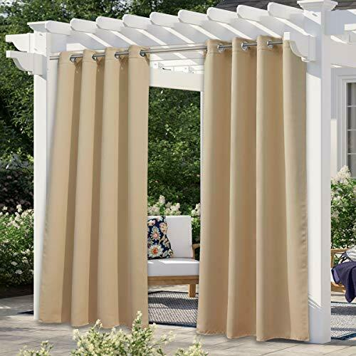 NICETOWN Outdoor Curtain for Patio Waterproof Outdoor Living Divider $45.37