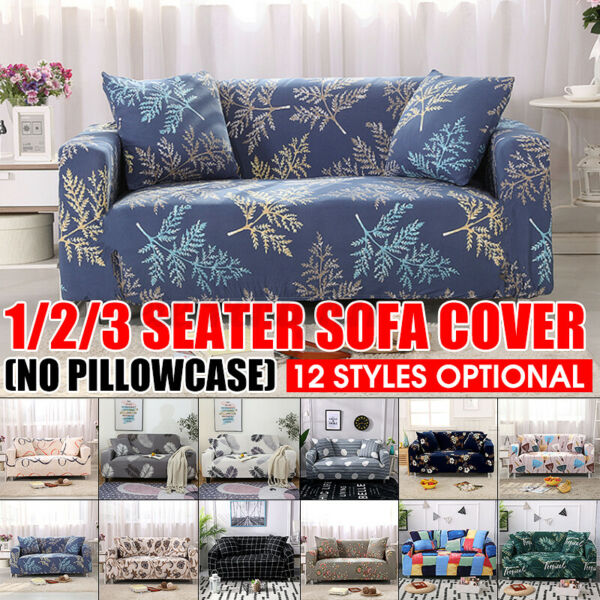 1 2 3Seater Printed Slipcover Sofa Covers Elastic High Stretch Spandex Protector $24.99