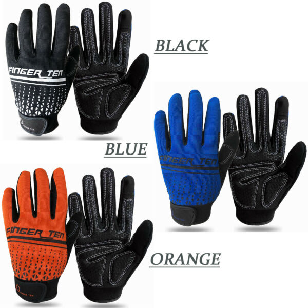Fitness Sports Gloves Mountain Bike Riding Full Finger Bicycle Cycling GEL Glove $10.99