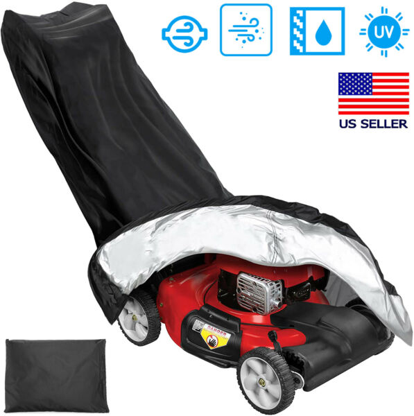 Lawn Mower Cover Waterproof Heavy Duty UV Protected Covering for Push Mowers $15.99