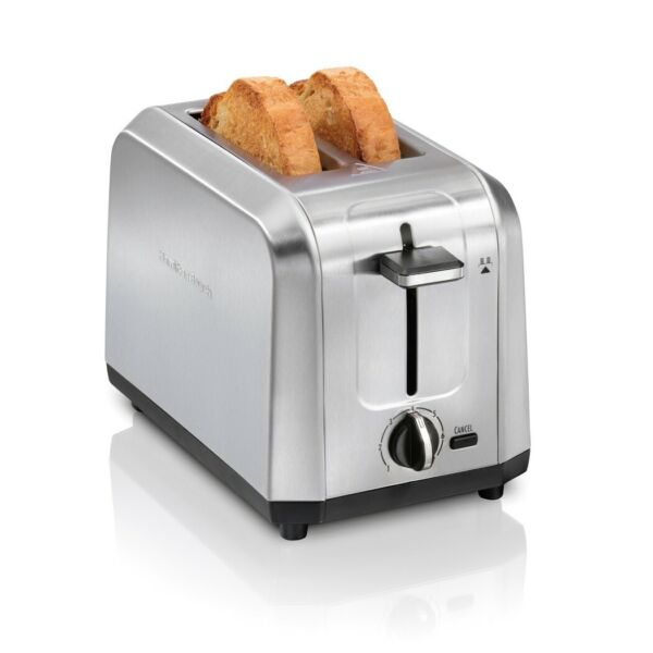 850W 2 Slice Toaster Stainless Steel Extra Wide Slots Adjustable Levels Kitchen