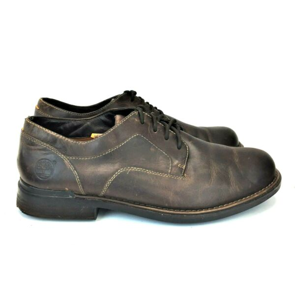 TIMBERLAND 13M Derby Water Proof Smart Comfort Brown Leather Lace Up $39.00