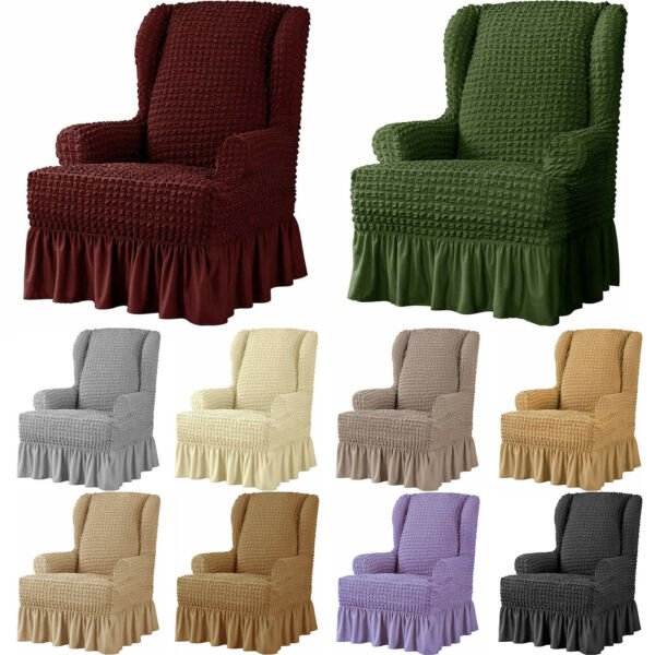 Subrtex Stretch Wing Chair Cover Slipcover Wingback Armchair Furniture Cover $39.99