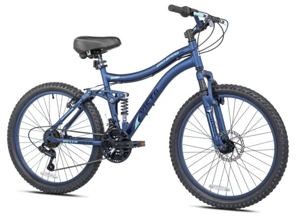 Genesis 24quot; Bella Vista Girl#x27;s Full Suspension Outdoor Mountain Bike Bicycle $189.99