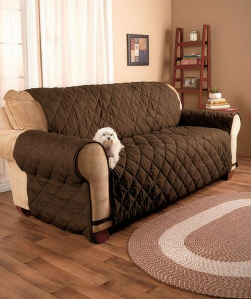 THE ULTIMATE SOFA COVER CHOCOLATE BROWN SOFA COUCH COVER $61.87