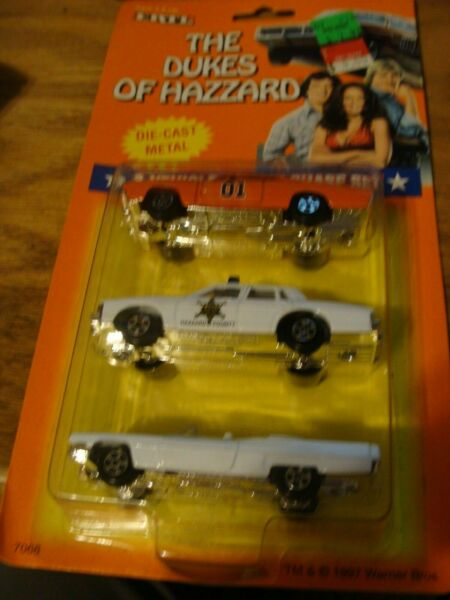 ERTL THE DUKES OF HAZZARD 1969 DODGE CHARGER GENERAL LEE 3 CAR Set $49.99