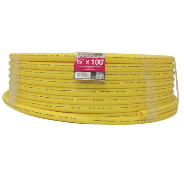 Gas Pipe Natural Gas and Propane Polyethylene Line Underground 100 ft. 1 2 in. $47.68