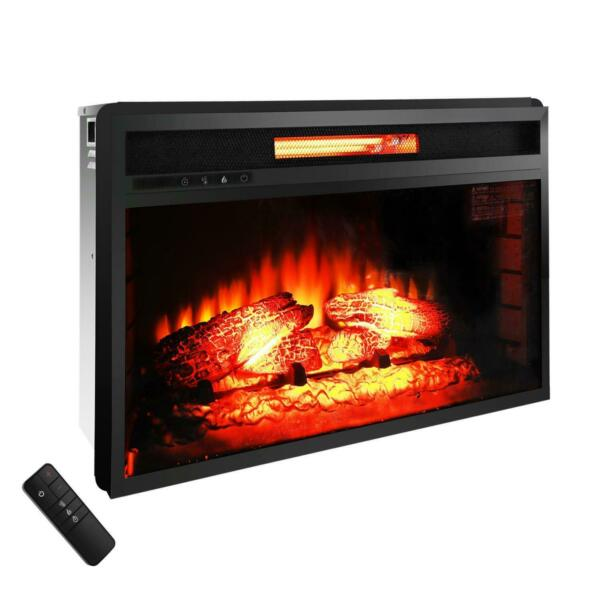 Brand New 1500W 26quot; Electric Fireplace Insert Heater Flame and Remote Control