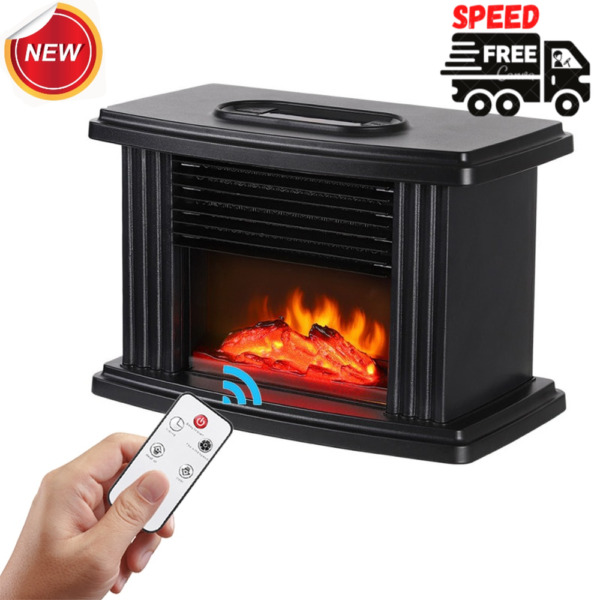 Mini Electric Home Warmer Heater Fireplace Heating Home With Remote Control $35.99