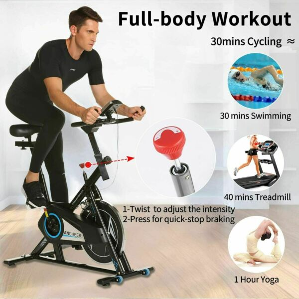 Stationary Exercise Bike Indoor Cycling Bike 40lb Flywheel Belt Drive amp; APP $254.99