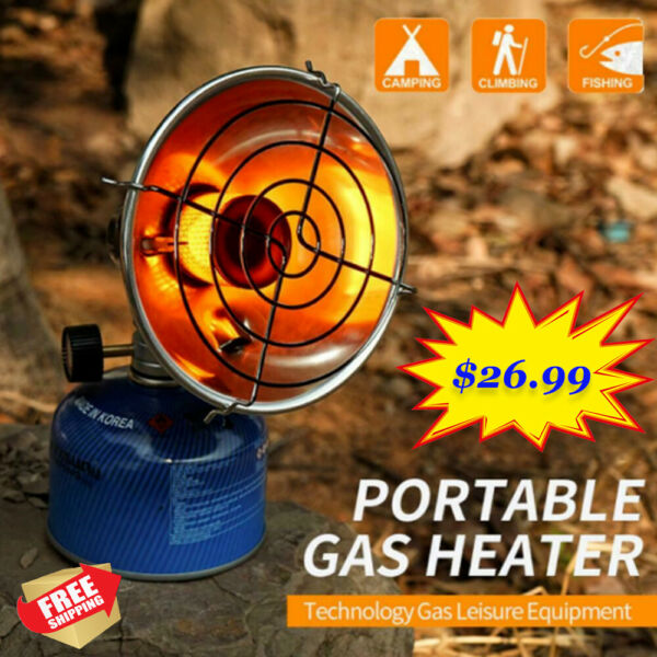 Outdoor Mini Portable Space Heater Gas Heating Stove Camping Winter Fishing Tent $26.99
