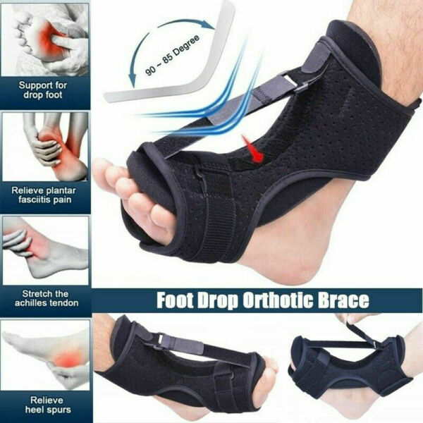 NEW Plantar Fasciitis Night Splint Foot Drop Orthotic Brace Adjustable Achilles*
