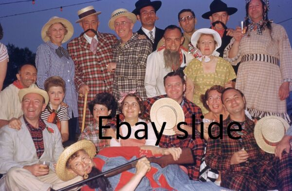 5 orig 1948 35mm Kodachrome slides Country folks in funny costumes $4.50