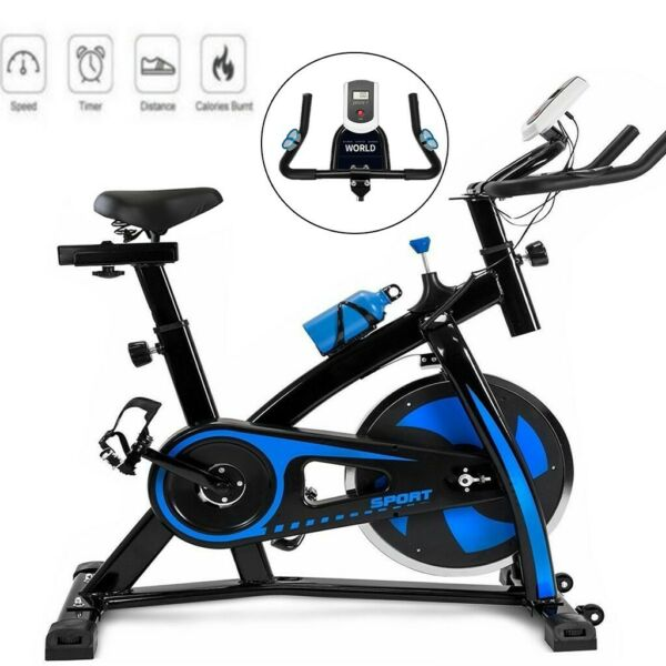 Stationary Bike w LCD Exercise Bicycle Cardio Workout Home Gym Fitness Cycling $194.39