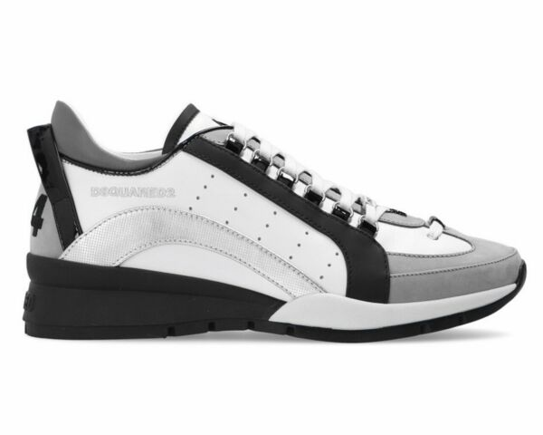 Dsquared2 551 Sneakers Snm0505 M1616 Leather Mens Trainers White Dsquared Shoes $523.70