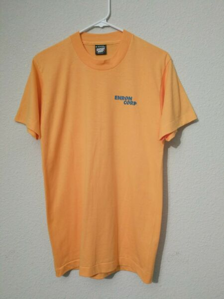 Vintage Screen Stars Best Enron Corp Phase 4 Going For The Gold T Shirt Size Med