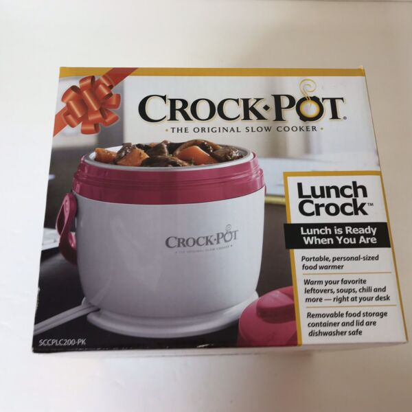 Crock Pot Lunch Crock Slow Cooker Single 20 Oz On The Go Meal Work Travel NIB