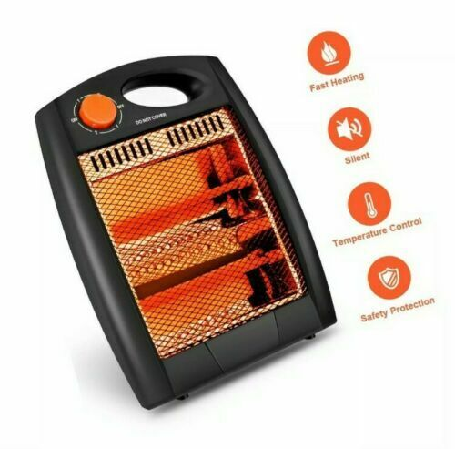Portable Infrared Space Heater Radiant Quartz Heater for Indoor 2 Heat Settings $19.99