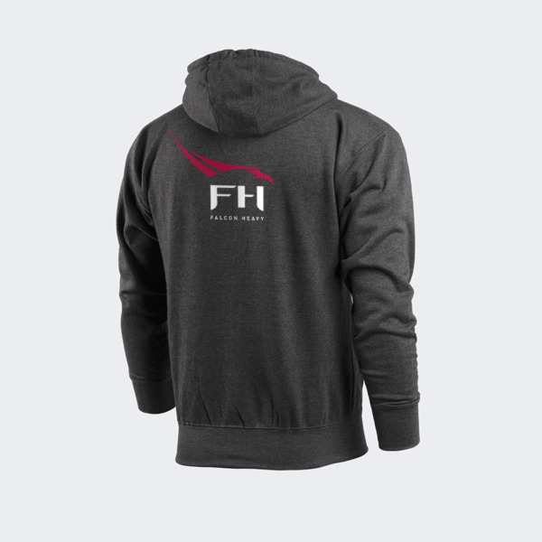 Authentic SpaceX Zipper Hoodie Falcon Heavy Large FREE SHIPPING $37.99