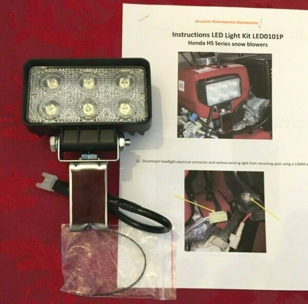 Honda Snowblower LED LIGHT Upgrade Plug in Kit HS1132 HS1332 HS828 HS928 HS724