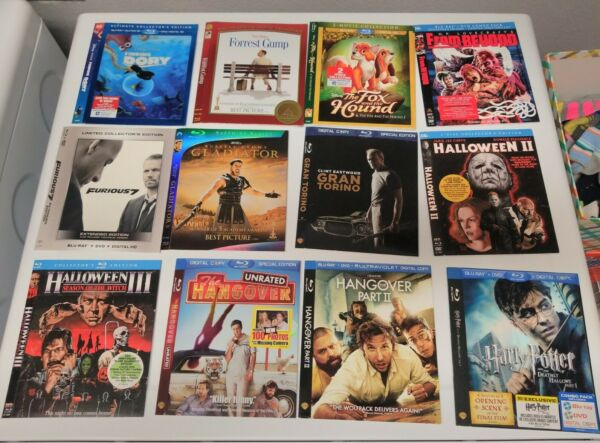 Blu ray SLIPCOVERS ONLY Scream Factory Exclusives No Discs Cases or code $4.00
